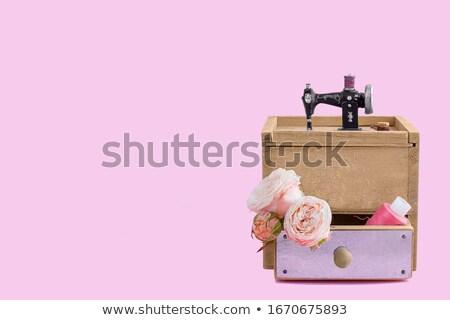 ミシン ボックス 刺繍 カラフル スレッド バスケット ストックフォト © Gertje
