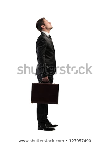 Businessman Looking Upwards Stock photo © leedsn