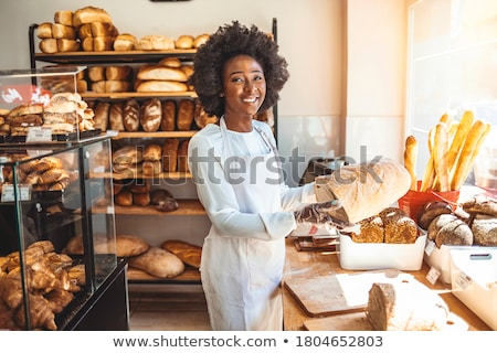 Baker displaying her bread Stock photo © photography33