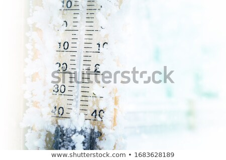 Thermometer in the snow Stock photo © m_pavlov