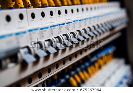 Man repairing fuse box Stock photo © photography33