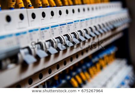 circuito · primo · piano · elettriche · costruzione · arancione · rete - foto d'archivio © photography33