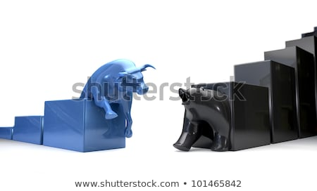 Bull & Bear Econonomic Trends Converge stock photo © albund