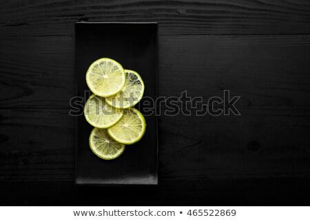 Tekila tuz limon üst görmek iki Stok fotoğraf © bugstomper