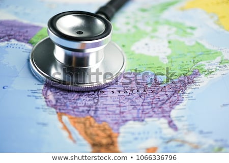 Stethoscope and United States Map - National Health Care Stock photo © iqoncept
