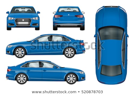 Stock photo: Rear-side view of car