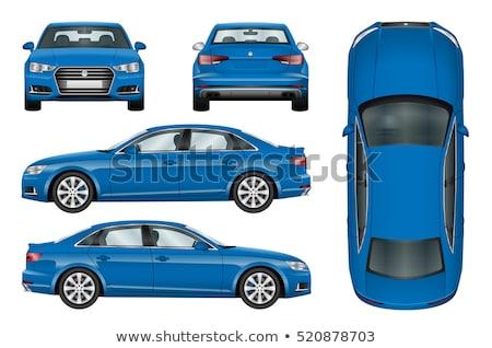 Foto d'archivio: Rear Side View Of Car