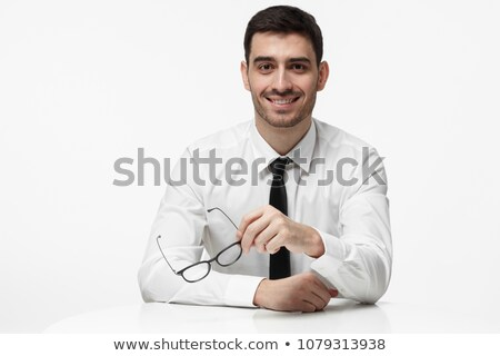 Stockfoto: Knap · jonge · zakenman · agenda · business · kantoor