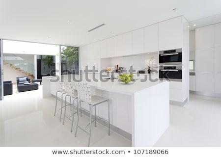 Modern mutfak iç beyaz ev Stok fotoğraf © Dizski