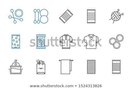 blanche · coton · textiles · sac · gris · 3D - photo stock © agorohov