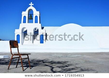 Belfry of a typical greek church, Oia, Santorini, Greece Stock photo © Elenarts