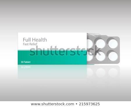 Görüntü aspirin kutu yalıtılmış beyaz tıp Stok fotoğraf © shutswis