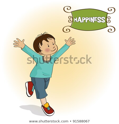 Stock photo: happy little boy who runs