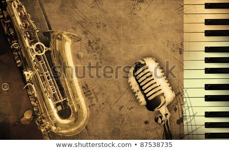 sax with microphone stock photo © ozaiachin