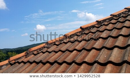 Stock photo: The texture of old tiled roof