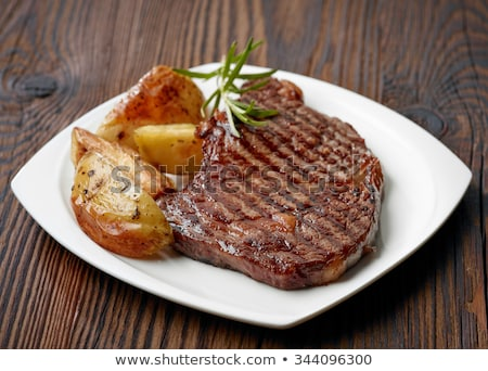 grilled beef on wood Stock photo © M-studio