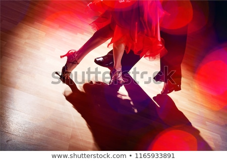 beautiful salsa dance couple posing Stock photo © feedough