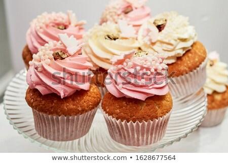 Baby roze harten bloemen Stockfoto © ivonnewierink