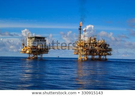costa · plataforma · de · petróleo · Óleo · perfuração - foto stock © photohome