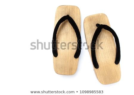 Coppia vecchio stile pantofole casa Coppia scarpe Foto d'archivio © photography33