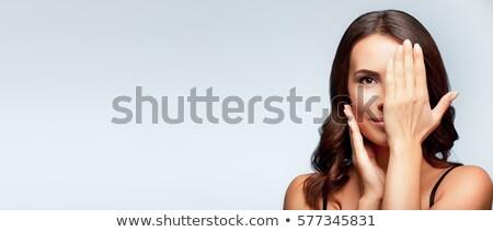 Сток-фото: молодые · брюнетка · баннер · портрет · женщину