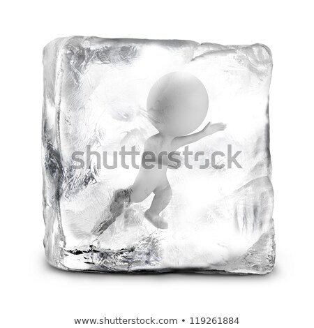 3d small people - frozen stock photo © AnatolyM