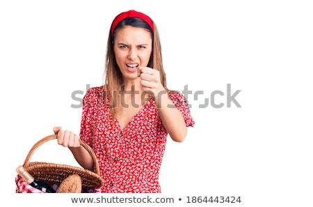 Loiro menina raiva parque escuro Foto stock © carlodapino