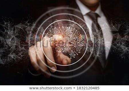 fikirler · beyin · ekran · yaratıcı · düşünme · düşünmek - stok fotoğraf © stuartmiles