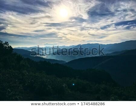 Napfelkelte hegyek 22 természet tájkép szépség Stock fotó © LianeM