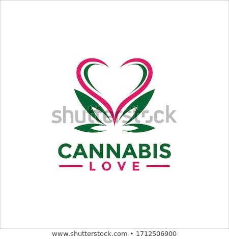 Cannabis ábécé fehér absztrakt vektor művészet Stock fotó © robertosch