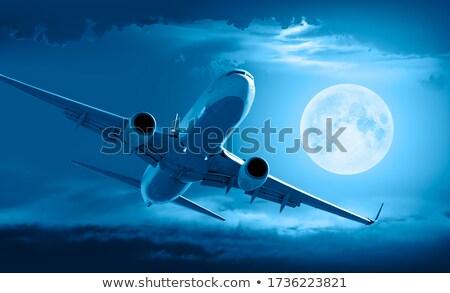 Lua avião imagem instantâneo metade preto Foto stock © Kirschner
