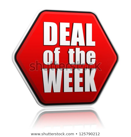 deal of the week in red hexagon stock photo © marinini