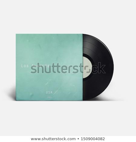fekete · poros · bakelit · lemez · izolált · fehér - stock fotó © ozaiachin
