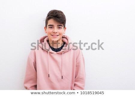 Expressive Teen portrait jeunes brunette Photo stock © lithian