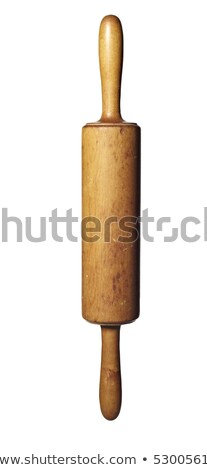 Vintage Wooden Rolling Pin with Clipping Path Stock photo © winterling