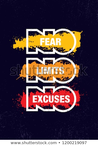 no · miedo · palabra · sucio · pizarra · fondo - foto stock © Ansonstock