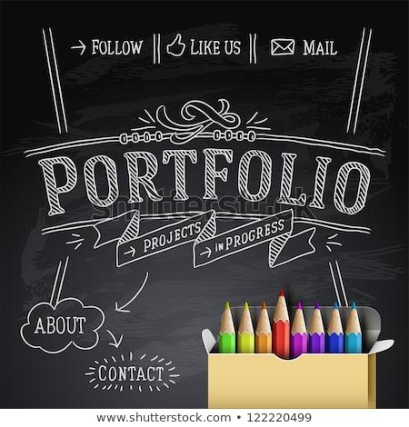 brand on blackboard banner Stock photo © marinini