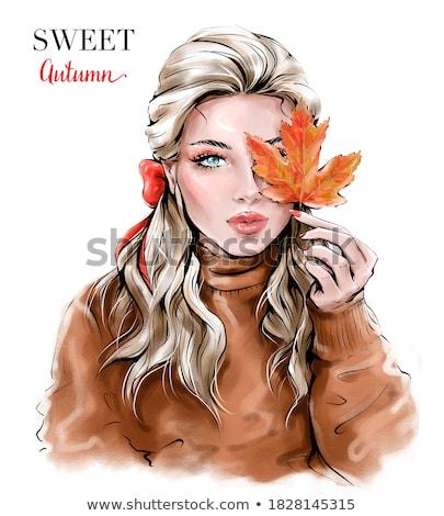 Stock fotó: Hölgy · piros · csinos · lány · elegáns · vörös · ruha