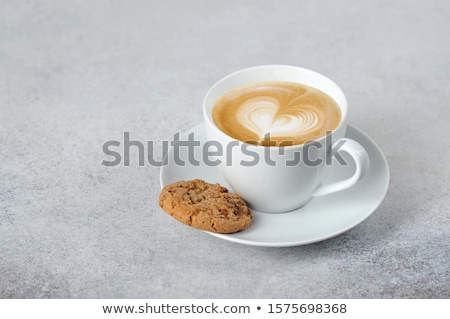 Café biscuits tasse café noir portable stylo Photo stock © rogerashford