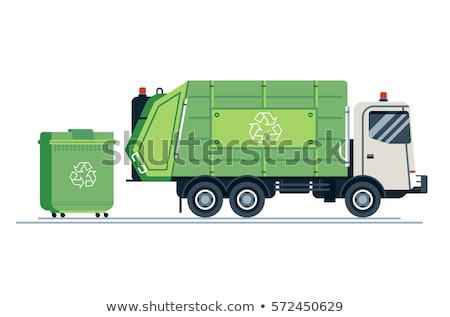 Green garbage truck  Stock photo © Snapshot