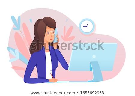 secretary on the phone Stock photo © photography33