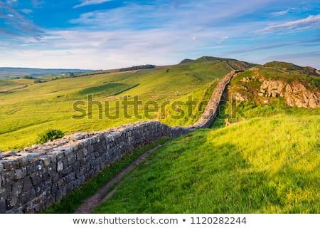 Hiking on the Hadrian wall Stock photo © Hofmeester