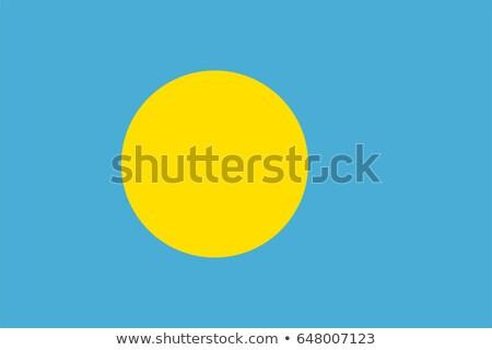 Bandeira Palau sombra branco fundo preto Foto stock © claudiodivizia