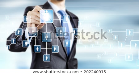 Hand schrijven organisatie grafiek vector afbeelding Stockfoto © gubh83