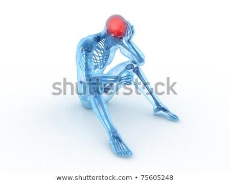 Cyfrowe ciało głowy mózgu ból graficzne Zdjęcia stock © wavebreak_media