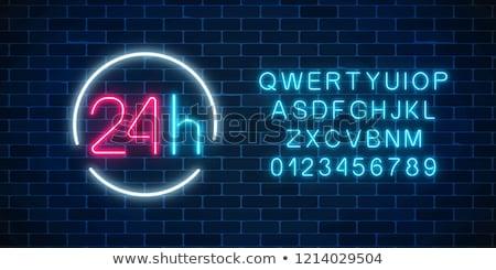 24 алфавит красный белый службе Сток-фото © tashatuvango