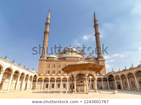Courtyard of the Great Mosque of Muhammad Ali in Cairo, Egypt Stock photo © TanArt