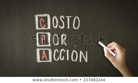 Costo por acción espanol persona dibujo Foto stock © kbuntu