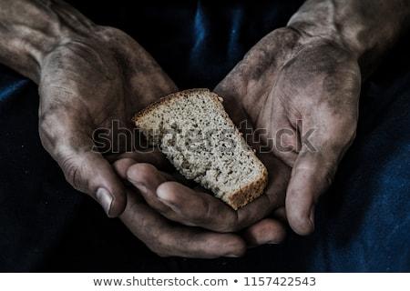 Fome jovem criança vazio tigela ajudar Foto stock © soupstock