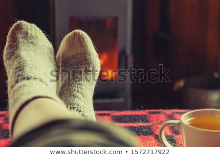 Frío pies masculina aislado blanco típico Foto stock © Lighthunter